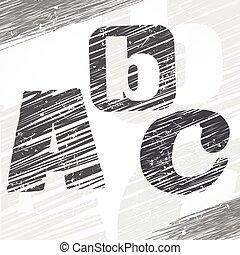 c, b, lettres