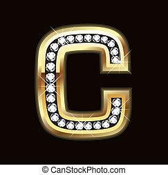 C bling letter