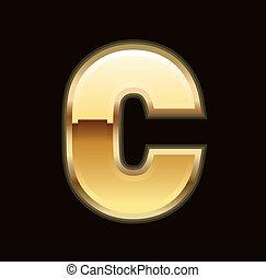 c, brief, gold