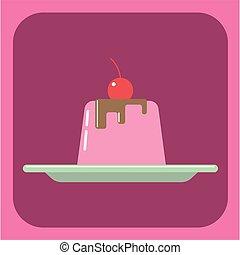 c, cielna, galareta, cukierek, karta, śmietanka