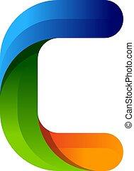 C Colorful Letter Logo Icon Design