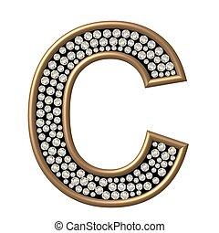 c, diamant, caractère