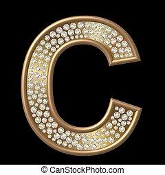 c, diamante, carácter