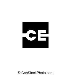 c, e., illustration., sinal, vetorial, letra