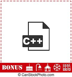 C file icon flat