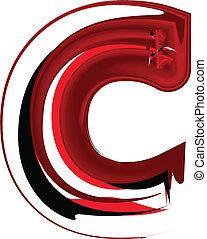 c, font, artistico, lettera