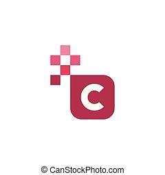 C Font Vector Template Design