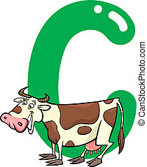 C for cow