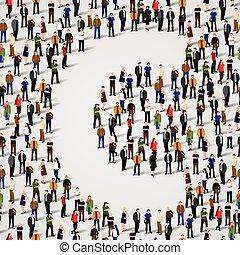 c, grupo, forma, pessoas, grande, letra