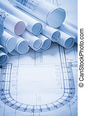 c-hang, alaprajzok, épület, szerkesztés, építészet, cölöp, tekercselt