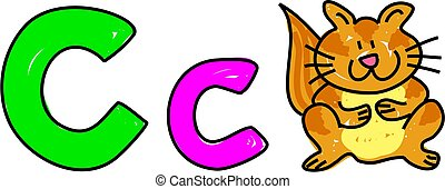 C is for cat - learning the alphabet - toddler art series