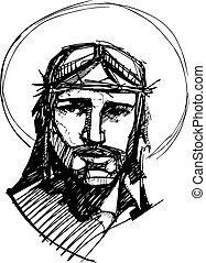 c, jego, namiętność, jezus
