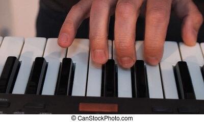 c, jouer, claviers