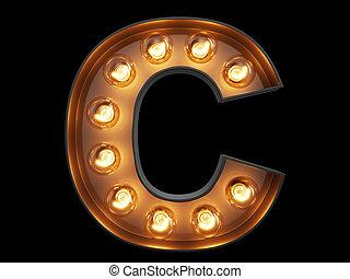 c, lekki, litera, alfabet, bulwa, chrzcielnica