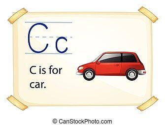 c, letra
