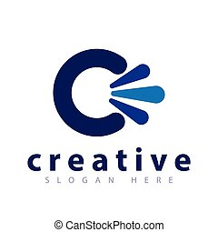C Letter Abstract logo icon vector
