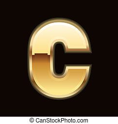 C letter in gold