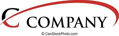 C Letter Swoosh Logo - Logo Template