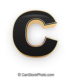 c, métal, lettre