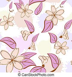 c, modèle, pastel, seamless, floral