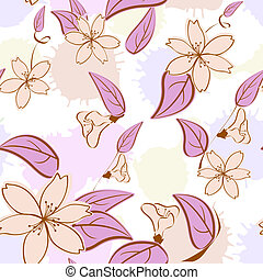 c, padrão, pastel, seamless, floral