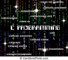 c, programação, aplicação, desenho, mostra, software