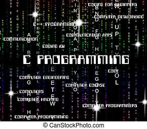 c, programmering, toepassing, ontwerp, optredens, software