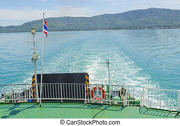 c , ropes , εις , πλοίο , οδοιπορικός , βάρκα
