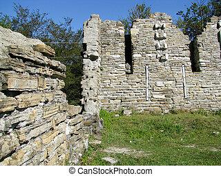 c, ruines anciennes, byzantin