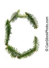 C - symbol from christmas alphabet