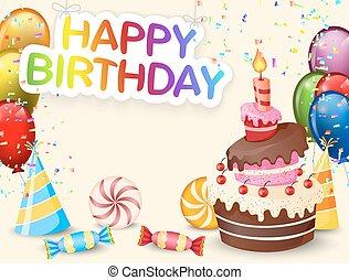 c, urodziny, tło