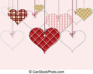c/, valentine, day's, tarjeta de felicitación