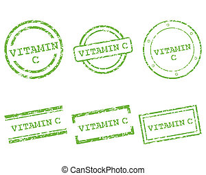 c, vitamina, francobolli