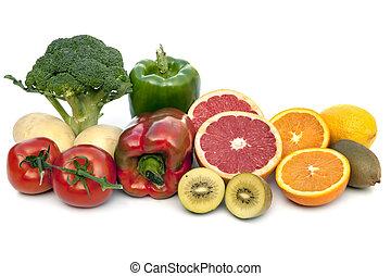 c, zawierając, odizolowany, witamina, pokarmy, biały