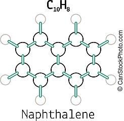 C10H8 naphthalene molecule