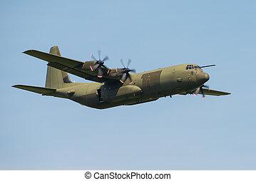 C130 Hercules transport aircraft.