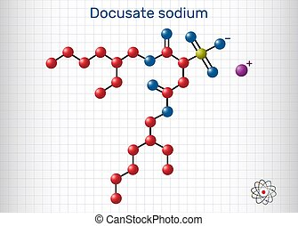 c20h37nao7s, sulfosuccinate, común, papel, laxative., jaula, dioctyl, sodio, tratamiento, taburete, softener, estreñimiento, molécula, hoja, docusate, docusate
