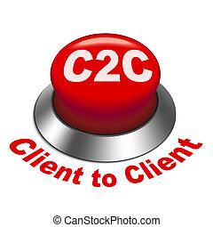 c2c, ボタン, クライアント, イラスト, 3d