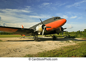 C47 Military Transport Plane - Old Douglas C47 photographed...
