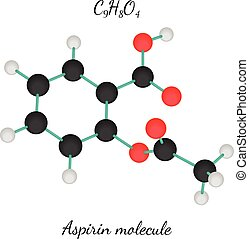 C9H8O4 aspirin molecule - C9H8O4 aspirin 3d molecule...