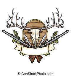caça, etiqueta