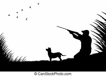 caçador, cão