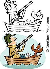 caçador, pato
