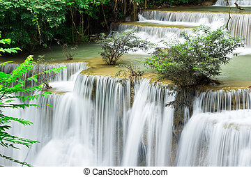 caída agua, hua, mae, kamin, nivel, 4, kanchanaburi, tailandia