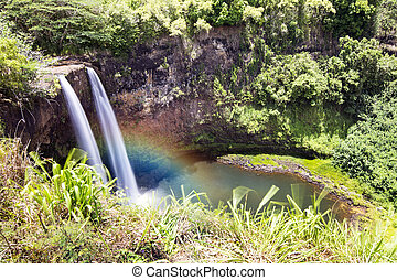 caídas de opaekaa, kauai, hawai