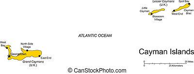 caïman, îles caraïbes, mer