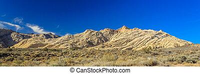 cañón, estado, whiterocks, nieve, parque, anfiteatro