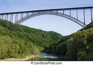 cañón, nuevo, puente, río