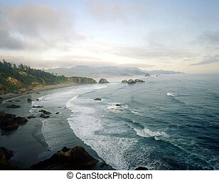 cañón, oregón, playa