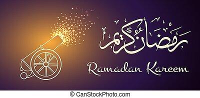 cañón, ramadan, plano de fondo